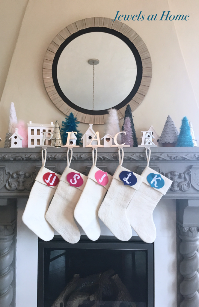 Felt Retro Monogram Christmas Ornaments | Jewels at Home