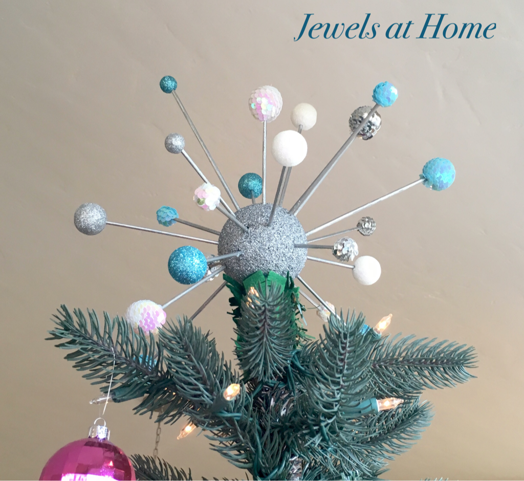 diy mid century atomic christmas tree topper jewels at home - How To Make A Christmas Tree Topper