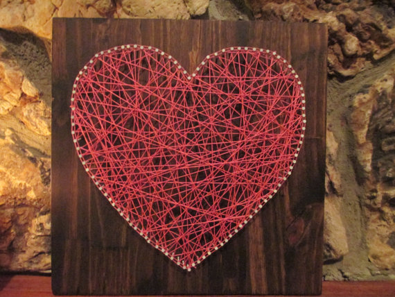 string art heart jewels at home. Black Bedroom Furniture Sets. Home Design Ideas