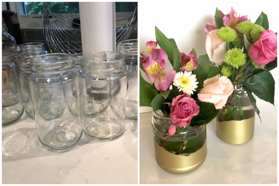 DIY gold-painted vases | Jewels at Home