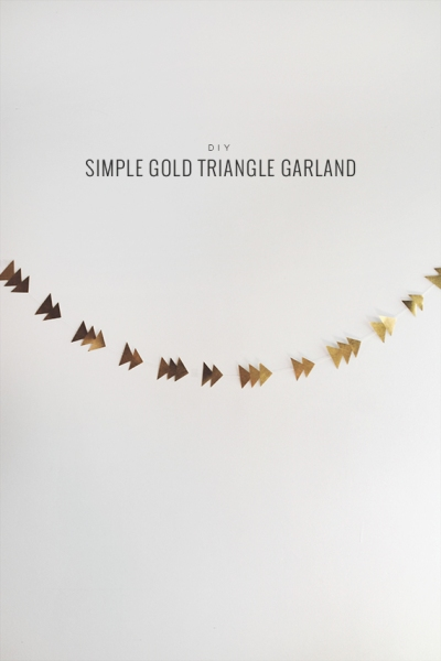 diy-gold-triangle-garland