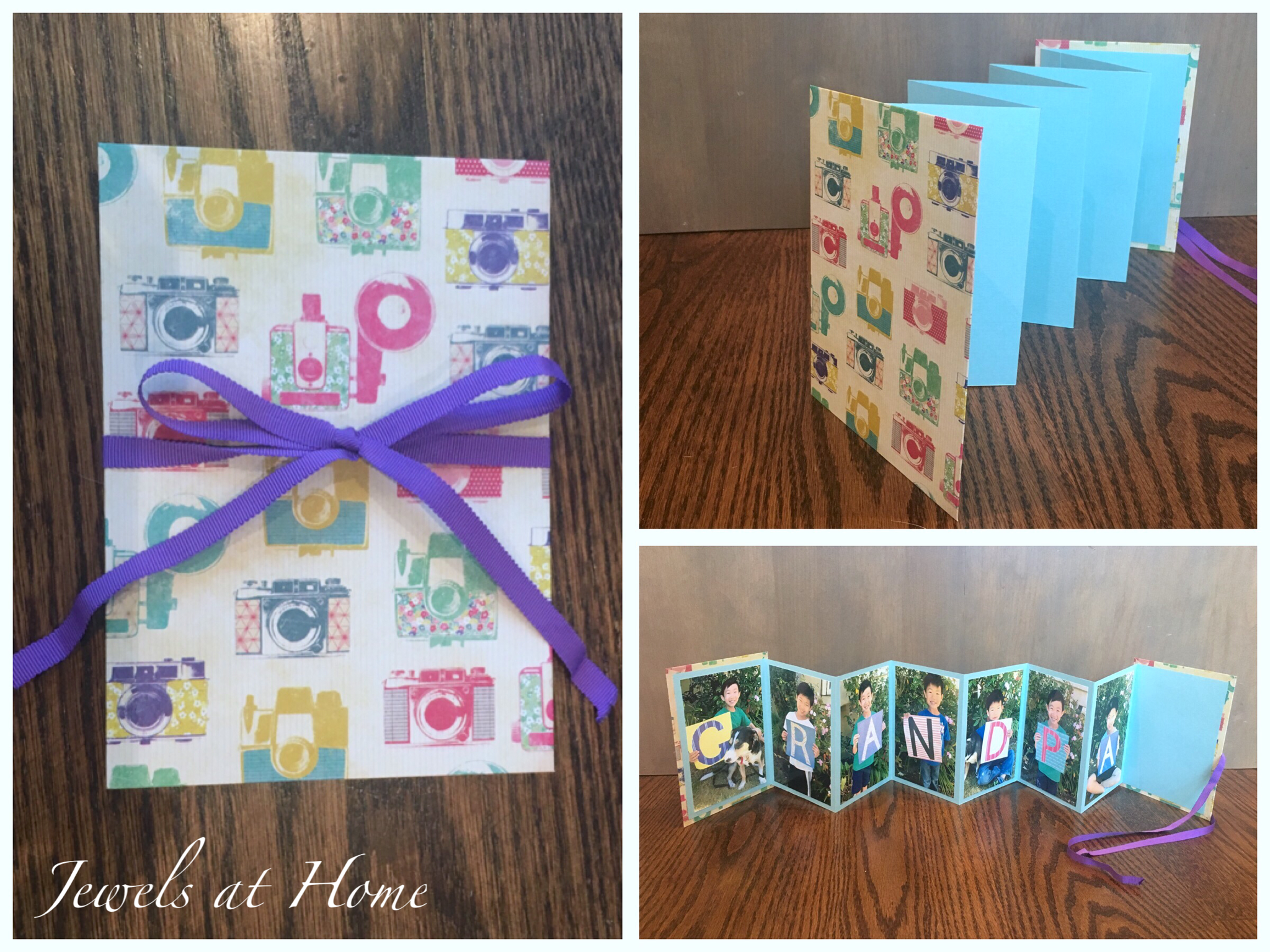 how to make a folded paper photo album