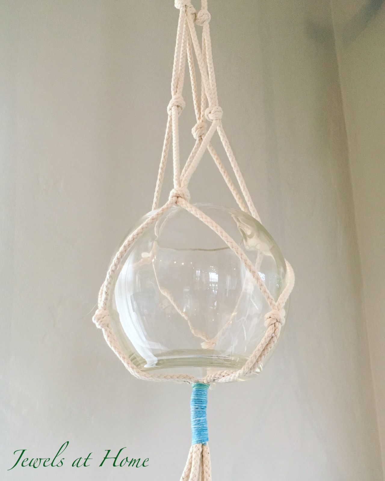 Macrame Madness A Simple Plant Hanger Jewels At Home
